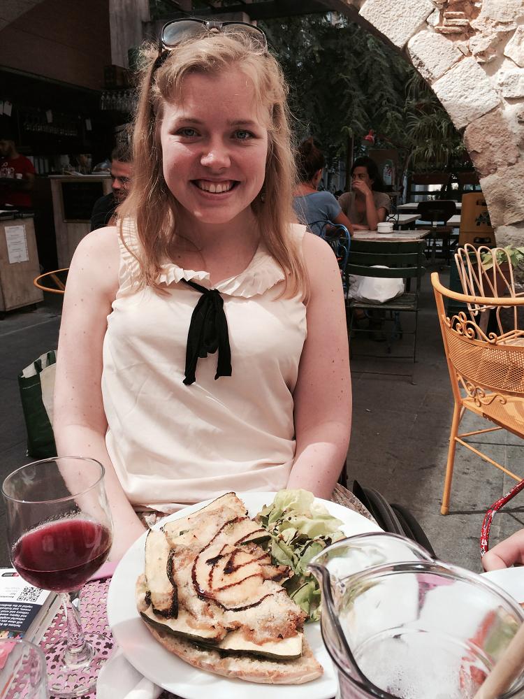Carine på ferie i Spania
