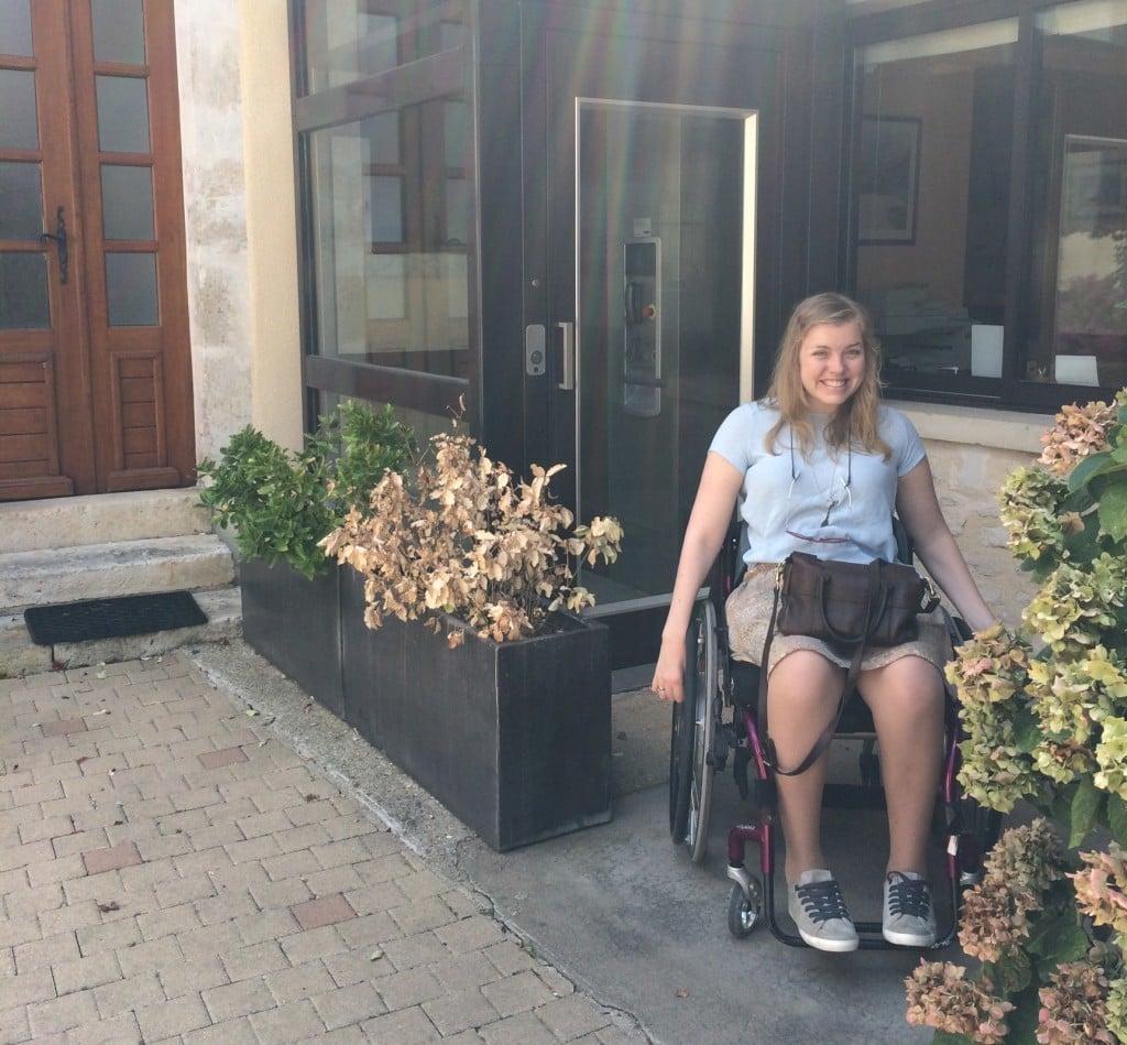 Carine ved rullestolvennlig hotell